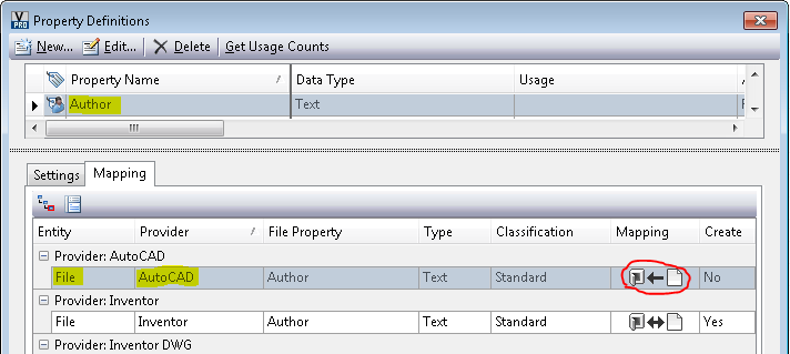 How to get the direction of Vault property-mappings through