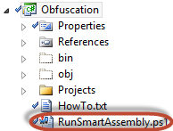 VisualStudio project build: automating obfuscation by using